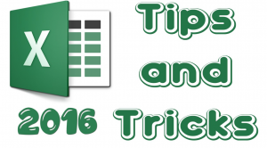tips for using excel